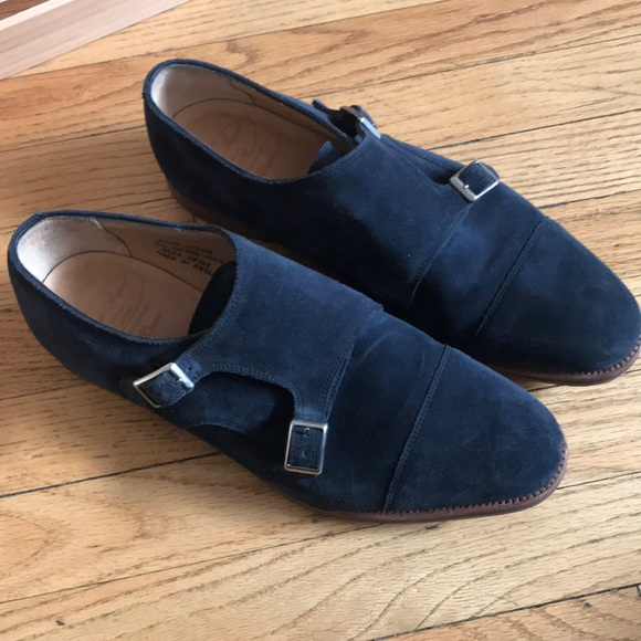 4d2548b81cf72 J. Crew Shoes | Alfred Sargent For J Crew Suede Monk Strap | Poshmark
